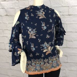Nordstrom's Angie Floral Print Peek A Boo Shoulder
